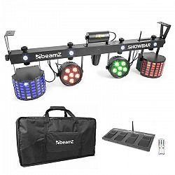 Beamz ShowBar 2x PAR 2x Butterfly R/G-Laser vrátane pedálového spínača a diaľkového ovládania