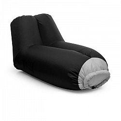 Blumfeldt Airlounge, nafukovacia sedačka, 90 x 80 x 150 cm, ruksak, prateľná, polyester, čierna