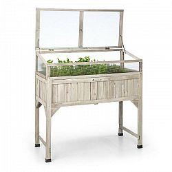 Blumfeldt Altiplano Terrado, vyvýšený záhon, 120 x 121 x 54 cm, skleník, záhradná textília, drevo