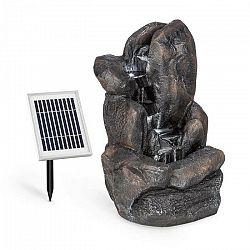 Blumfeldt Felsquell, solárna kaskádová fontána, akumulátorová prevádzka, 2 W, solárny panel, 3x LED
