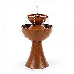 Blumfeldt Hadrian, záhradná fontána s olejovou lampou, 8 W, pozinkovaný kov, hrdzavá farba