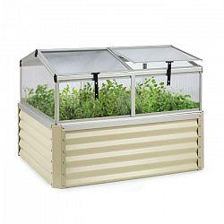 Blumfeldt High Grow Advanced, vyvýšený záhon so strechou, 120x95x100cm, 540l, oceľ,  béžový