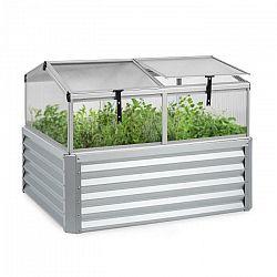 Blumfeldt High Grow Advanced, vyvýšený záhon so strieškou, 120 x 95 x 100 cm, 540 l, oceľ, strieborný