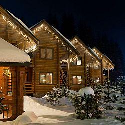 Blumfeldt Icicle-160-WW LED vianočné osvetlenie, cencúle, 8m, 160 LED svetielok, teplá biela farba