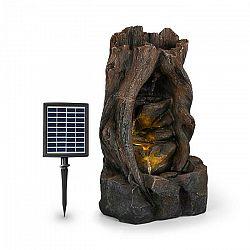 Blumfeldt Magic Tree, solárna fontána, 2,8 W, polyresin, 5 hod., akumulátor, LED osvetlenie, vzhľad dreva