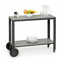 Blumfeldt Menorca Roll, servírovací stolík, 2 kolieska, polywood, hliník, tík