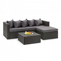 Blumfeldt Theia Lounge Set, záhradná sedacia súprava, čierna/tmavosivá