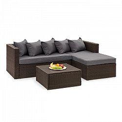 Blumfeldt Theia Lounge Set, záhradná sedacia súprava, hnedá/tmavosivá