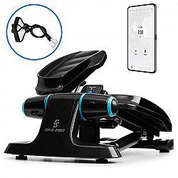 Capital Sports Galaxy Step, mini stepper, prémiové plochy na stúpanie, LCD displej, aplikácia, modrý