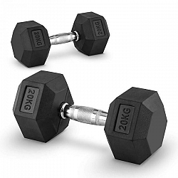 Capital Sports Hexbell 20, 20kg, krátkoručná činka (dumbbell)