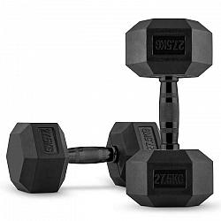 Capital Sports Hexbell, pár jednoručných činiek, 2 x 27.5 kg, čierne
