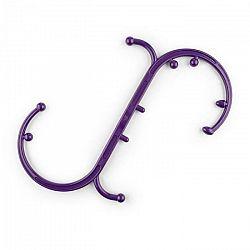 Capital Sports Mr Hook, fialový, masážny hák, prepojiteľný, spúšťacie body, 10 masážnych nopiek