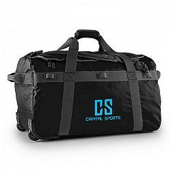 Capital Sports Travel L, cestovná taška, ruksak, 90 l, vozík, nepremokavý, čierny