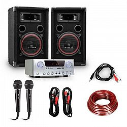 Electronic-Star DJ EASY set 2 x reproduktor + 1 x zosilňovač + 2 x mikrofón