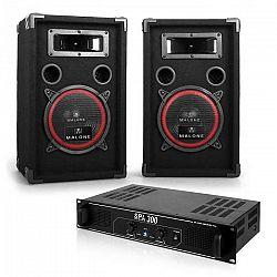 """Electronic-Star DJ PA sada """"Soundbash"""", pár PA reproduktorov & zosilňovač ,300 W"""