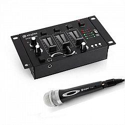 Electronic-Star Mini DJ Set, 1 x 3/2-kanálový mixážny pult + 1 x ručný mikrofón