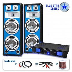 """Electronic-Star PA set Blue Star Series""""Bassveteran"""", 1600 W"""