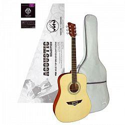 Gitara VGS Acoustic Selection Mistral Pack, puzdro, ladička