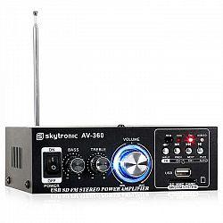 Hi-fi stereo zosilňovač Skytronic AV-360, USB, SD, MP3, AUX