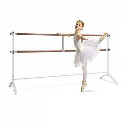 KLARFIT Barre Marie, dvojitá baletná tyč, 220 x 113 cm, 2 x 38 mm Ø, biela