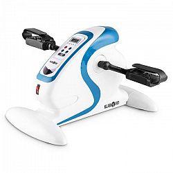 KLARFIT Cycloony MiniBike, pohybový tréner, motor, 120 kg, diaľkové ovládanie, biela/modrá