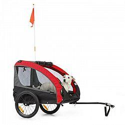 KLARFIT Husky Race, príves na bicykel pre psov, 282L, 40KG, 600D, oxfordské plátno, červený