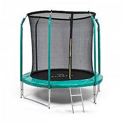 KLARFIT Jumpstarter, trampolína, 2,5 m Ø, sieť, 120 kg max., tmavozelená
