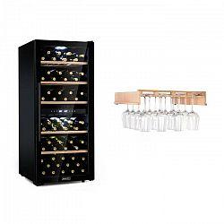 Klarstein Barossa 102 Duo vinotéka + polica na poháre na víno