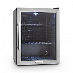 Klarstein Beersafe XL, chladnička s objemom 65 litrov, energet. trieda B, sklenené dvere, nerezová oceľ
