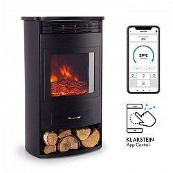 Klarstein Bormio, elektrický krb, 950/1900 W, termostat, týždňový časovač, čierny