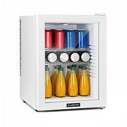 Klarstein Brooklyn 42 White, mini chladnička, energetická trieda A, sklenené dvere, LED, polica, biela