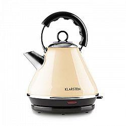 Klarstein Charlotte II, 1.7 l, 2200 W, varič vody, čajník, bezkáblový, krémový