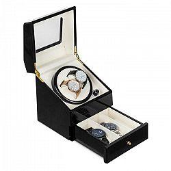 Klarstein Geneva, naťahovač na hodinky, 2 hodiniek, 4 režimy, zásuvka, čierny