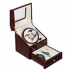 Klarstein Geneva, naťahovač na hodinky, 2 hodiniek, 4 režimy, zásuvka, palisandrový vzhľad