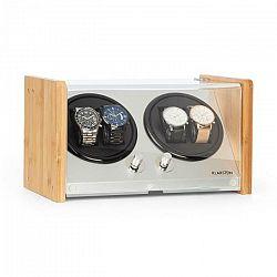 Klarstein Hanoi 4, naťahovač na hodinky, 4 hodiniek, 3 rýchlosti, 4 režimy, bambus
