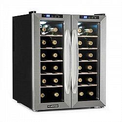 Klarstein SaloonNapa chladnička na víno, objem 67 litrov, 2 presklené dvere, 11-18°C, ušľachtilá oceľ