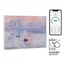 Klarstein Wonderwall Air Art Smart, infračervený ohrievač, 80 x 60 cm, 500 W, východ slnka