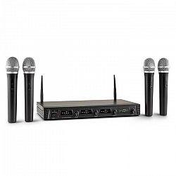Malone Duett Quartett Fix V1, 4-kanálový UHF bezdrôtový mikrofónový set, dosah 50 m