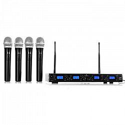 Malone UHF-550 Quartett1, bezdrôtový mikrofónový set, 4-kanálový