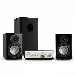 Numan Drive 802, stereo sada, zosilňovač, regálový reproduktor, subwoofer, čierna