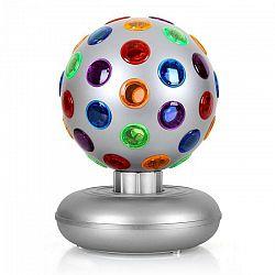OneConcept Disco Ball, 7 W, svetelný efekt, strieborný