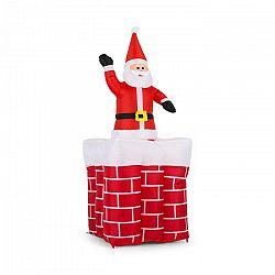OneConcept Merry-Surprise, 180 cm, nafukovací komín so Santa Clausom, LED