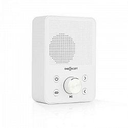 OneConcept Plug+Play FM, rádio do zásuvky, FM tuner, USB, BT, biele