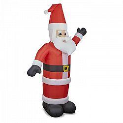 OneConcept Santa XXL, nafukovací Santa Claus, 350 cm, kompresor, osvetlený 6 LED diódami