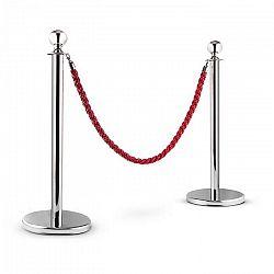 OneConcept Silver Gate, strieborná/červená, vodiaci systém osôb, dva oddeľovacie stĺpiky a jedno lano