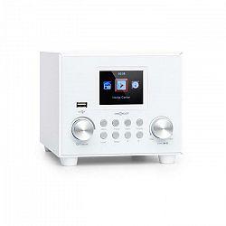 OneConcept Streamo Cube, internetové rádio, 3W & 5W RMS, WiFi, bluetooth, biele
