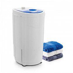 OneConcept Top Spin Compact, žmýkačka bielizne, 45 W, 1.5 kg, časovač, biela/modrá