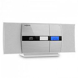 OneConcept V-15 BT, stereo systém, bluetooth, CD, USB, MP3, FM, AUX, budík, biely