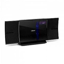 OneConcept V-16-BT, stereo systém, bluetooth, CD, USB, MP3, FM, nástenná montáž, čierny