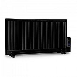 OneConcept Wallander, olejový radiátor, 1000 W, termostat, olejové vyhrievanie, plochý dizajn, čierny